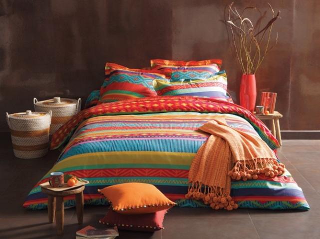 solde linge de maison parure housse de couette ou taies polycoton atome with solde linge de. Black Bedroom Furniture Sets. Home Design Ideas
