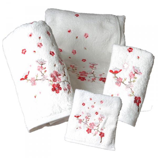 lot-de-2-serviettes-de-toilette-brodees-coton-550g-m-yuko-blanc