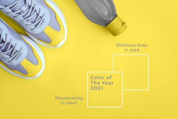 Pantone 2021 couleurs jaune et gris